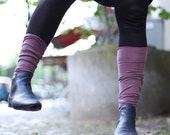 Pink leg warmers / cozy Yoga socks / Elegant spats