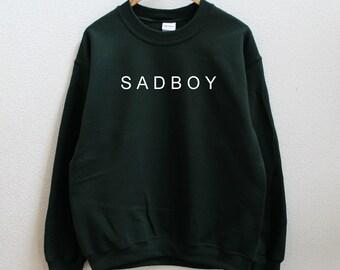 202c70cbe SAD BOY Graphic Print Unisex Sweatshirt