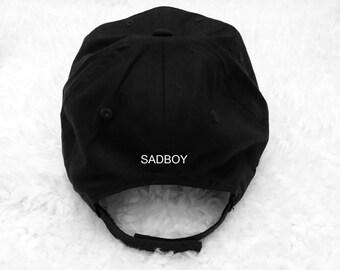 e5a59e01bd2c Sadboy back Black Baseball Hat