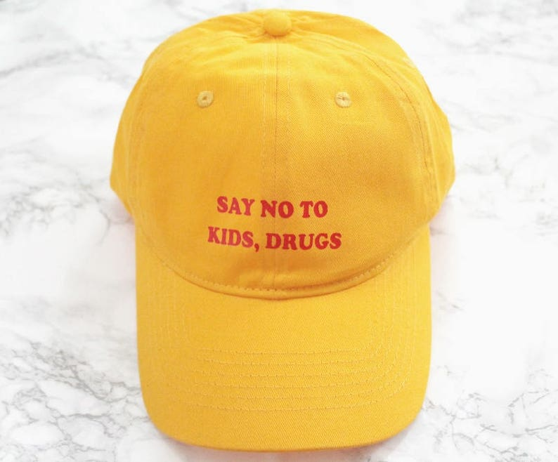 Say no to kids drugs Yellow Baseball Hat  1ee62f0c475