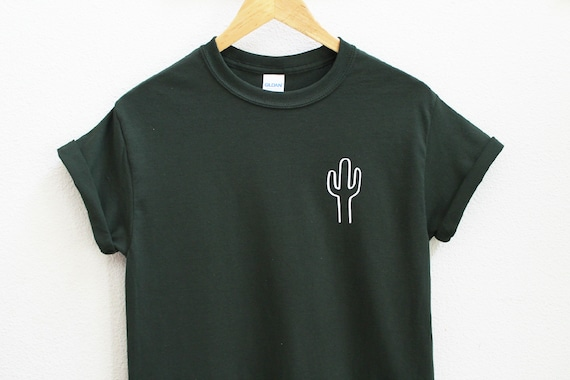 90bf6248312 Cactus Unisex Dark Green Shirt S-5XL