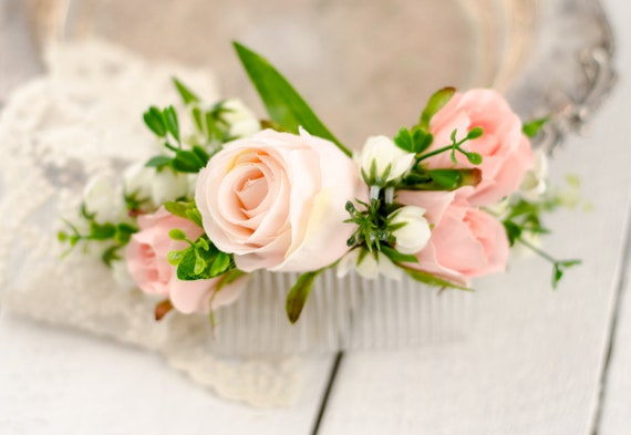 Leichte Rosa Kamm Rosa Weiss Grun Rosa Blume Kamm Etsy