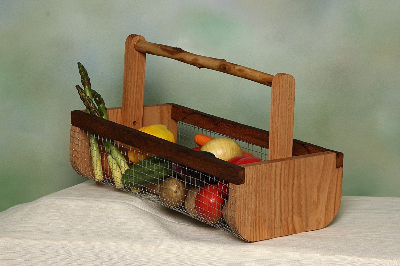 Wooden Harvest BasketGardening Basket Farmhouse Decor | Etsy