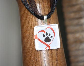 Love My Pet glass tile tag by Maggie Taggie glass tile tags