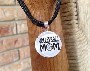 Volleyball Mom glass tile by Maggie Taggie glass tile tags.