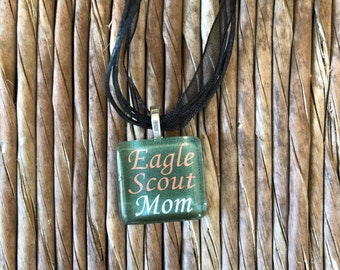 Eagle Scout Mom glass tile by Maggie Taggi