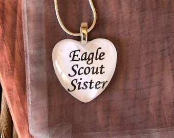 Eagle Scout Sister Charm Necklace