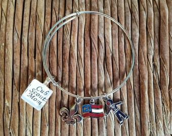Cub Scout Mom Charm Bracelet by Maggie Taggie