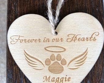 Pet Memorial Heart Ornament