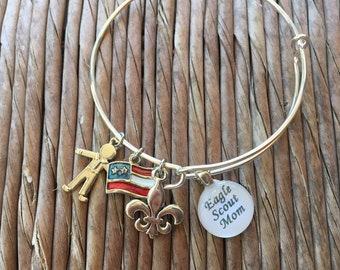 Eagle Scout Mom Charm Bracelet