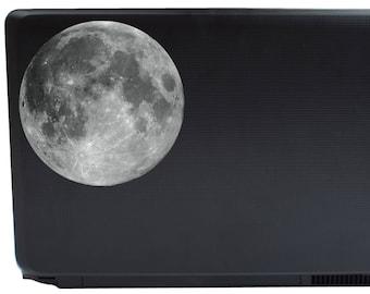 Full Moon Vinyl Laptop Decal | yeti macbook car window iphone tablet lunar sticker vinyl decal night sky astronomy moon phases