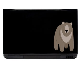 Woodland Bear Laptop Decal | Bear decals FREE SHIPPING car decal outdoor decals yeti cup phone car decal sticker car window decal