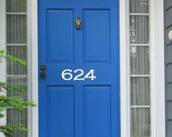 Vinyl Apartment Door numbers apartment number front door | Etsy