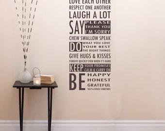 Restez calme et ont un mur de vinyle Cupcake Art Autocollant Citation Décalcomanie Chambre