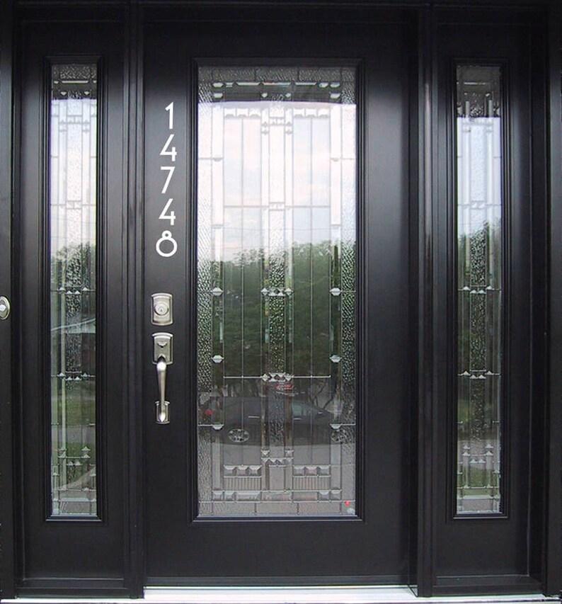ed2067c1afd5 Vertical Vinyl Craftsman Style House Door Numbers door | Etsy