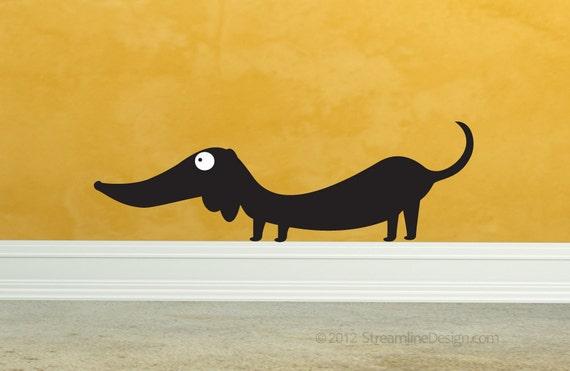 dachshund vinyl wall art wall decal doxie wiener dog funny | etsy