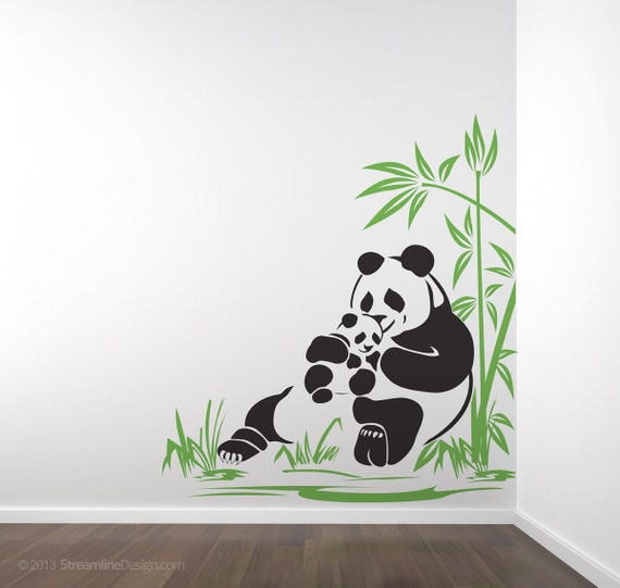 Ours Panda et Panda Cub sticker mural maman panda adorable   Etsy
