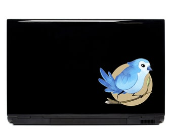 Cute Blue Jay Laptop Decal | Bird decals FREE SHIPPING car decal outdoor decals yeti cup phone car decal sticker car window decal