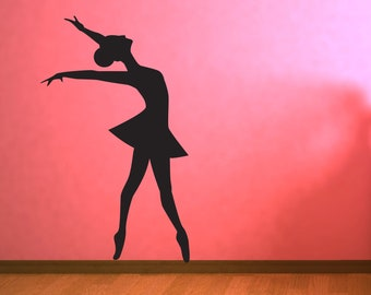 Ballet Dancer 2 Vinyl Wall Decal | ballet wall art ballerina silhouette wall sticker dance studio wall art dancer silhouette dance room