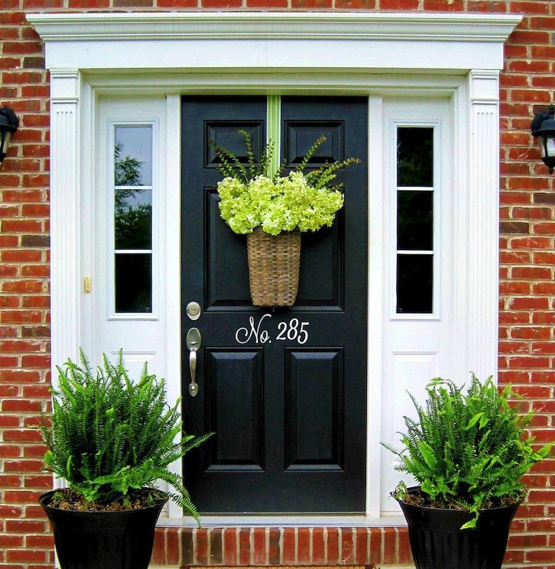 4c14c651f491 Vinyl House Door Numbers door number decals house number | Etsy