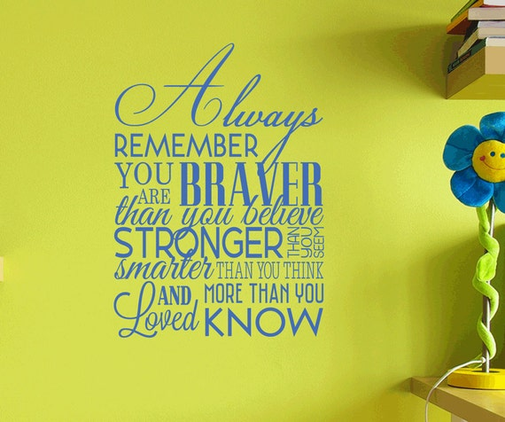 Always Remember Removable Wall Vinyl Decal Etsy
