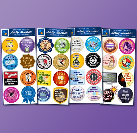 32 adult reward stickers series 1 4 you adulted today