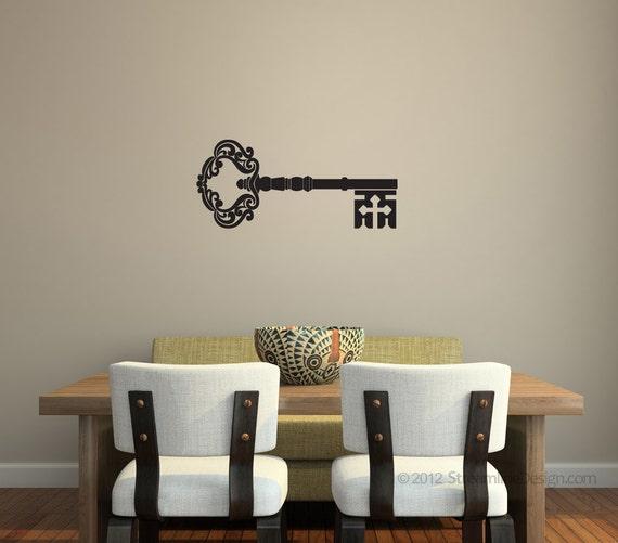 Ornate Skeleton Key Wall Decal wall art wall livingroom | Etsy