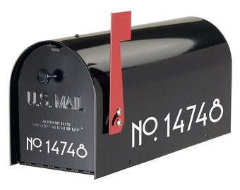 Craftsman Mailbox Numbers | vinyl house numbers mailbox decals mailbox stickers curb appeal address numbers FREE SHIPPING number stickers