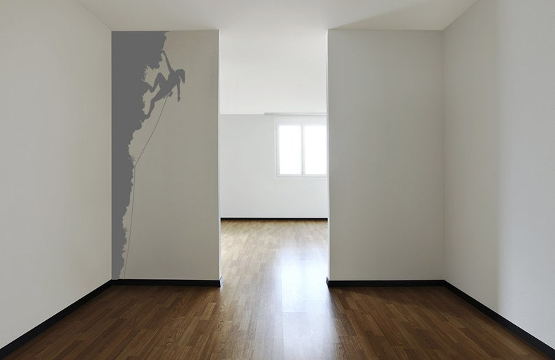 rock climbing woman wall decal 8ft tall rock climber outdoor etsy rh etsy com rock roll wall decor wall rock decor interior