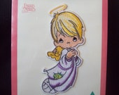 Vintage Precious Moments Boy Angel 533 Applique Sew or Iron-on New Old Stock circa 1990s