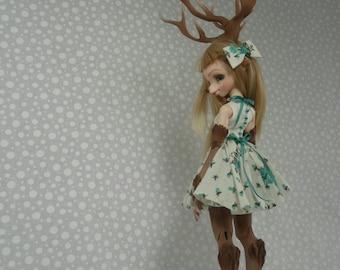 Teal Floral Dress Set for Dollpamm Arubi