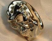 Skull ring handmade sterling silver