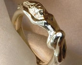 Reclining nude ring sterl...