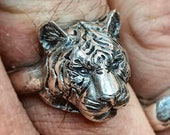 Tiger ring sterling silver handmade