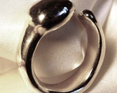 Silverstone sterling silver ring, handmade, unusual