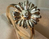 Daisy ring handmade sterling silver
