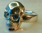 Sterling silver skull ring handmade