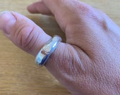 Sterling silver wrought ring