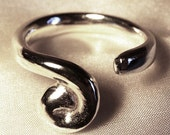 Twist sterling silver ring, handmade, unusual