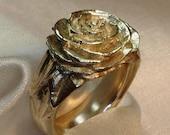 Camellia ring sterling silver handmade