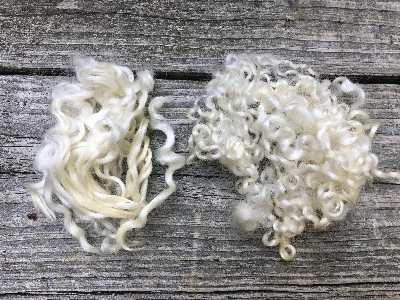 Wensleydale, polaire, lavé, blanc, 2 onces, naturel, teinte, fibre ... de355f1152a