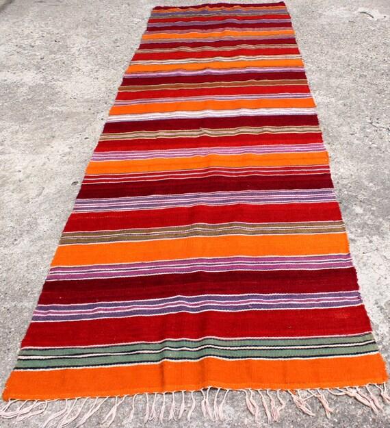 VINTAGE Wool Rug Turkish Decorative Kilim