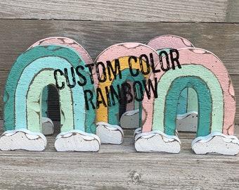 Rainbow, Spring Decor, Bedroom Decor, Wood Rainbow, Nursery Decor, Girls Room Decor, Rustic Rainbow, Spring Rainbow