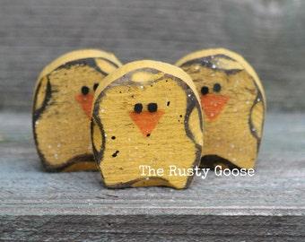 Easter Decor, Spring Decor, Wood Chicks, Spring Gift, Rustic Spring, Primitive Spring Chick, Easter Chick, Chick Bowl Filler
