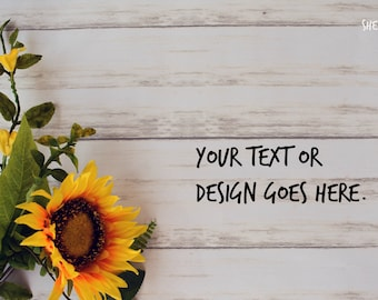 Sunflower Mockup DIGITAL Download Styled Photography Shabby Chic Nature Rustic Farm Background Graphics COMMERCIAL LICENSE