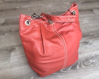 Leather Bag for Women, Everyday Hobo Purse, Unique Fashion Shoulder Handbag, Handmade Purses and Bags, Zuly