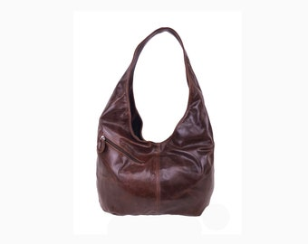 7c3c5d81ae Camel Leather Hobo Bag Stylish Women Handbags Casual Leather