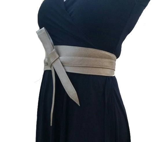 Neutre en cuir des ceintures Obi ceinture portefeuille large   Etsy 8e00421fc58