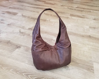 Women Leather Bags, Classic Everyday Fashion Hobo Bags, Handmade Handbags and Bags, Alyna