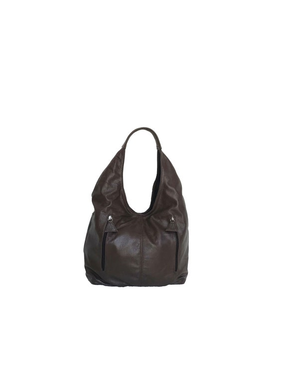 40775ab77a Brown Leather Bag Hobo Purse Casual Hobos Women Fashion